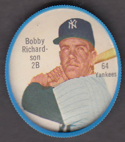 Image for New York Yankees 2B Bobby Richardson Salada Tea Junket coin #64 1962