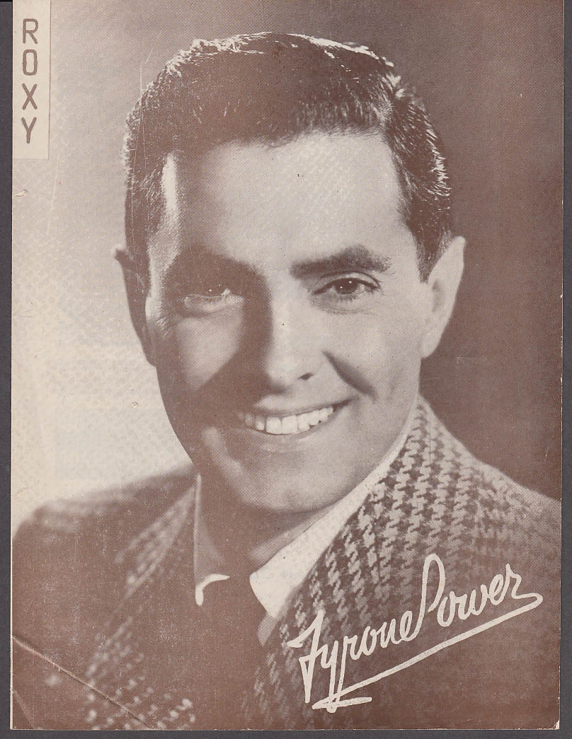 Image for Roxy Theatre Program NY 12/14 1951 Tyrone Power I'll Never Forget You, Rockettes