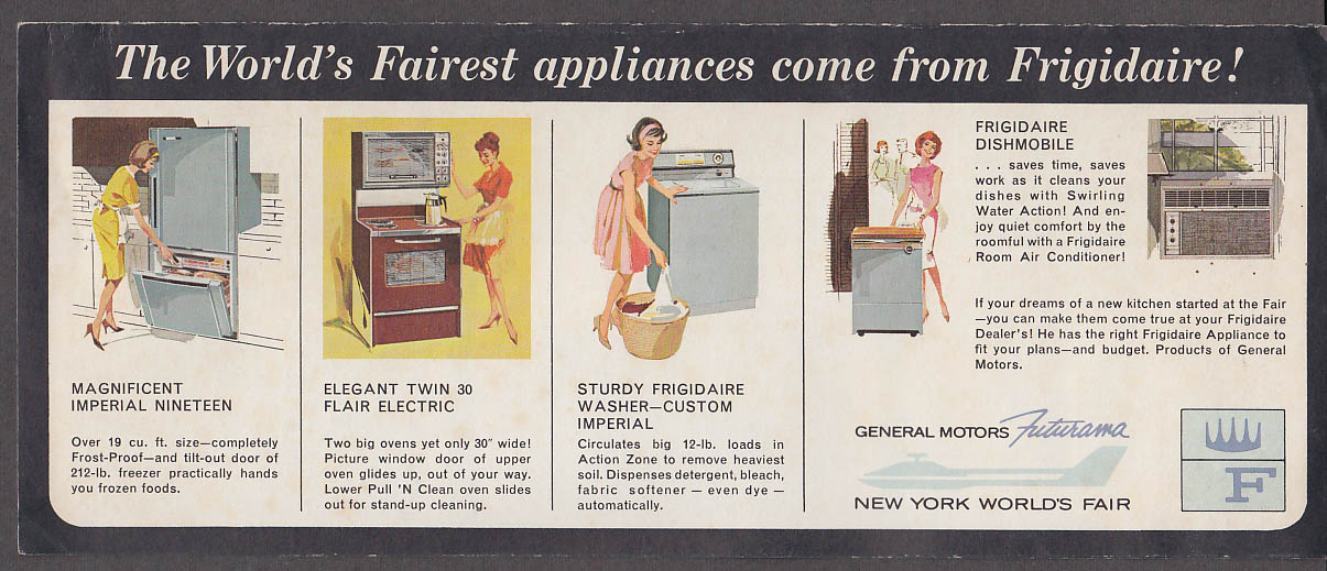 Image for Frigidaire Kitchens & Cooking Round the World New York World's Fair 1964 folder