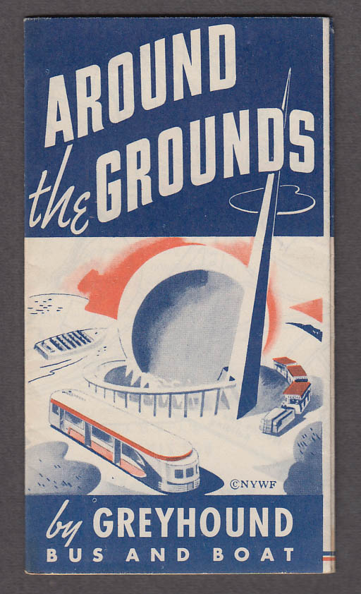 Image for Around the Grounds New York World's Fair Greyhound Bus map & tour folder 1939