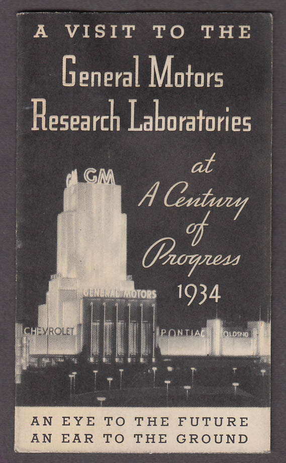 Image for Visit to the General Motors Research Laboratories Century of Progress 1933