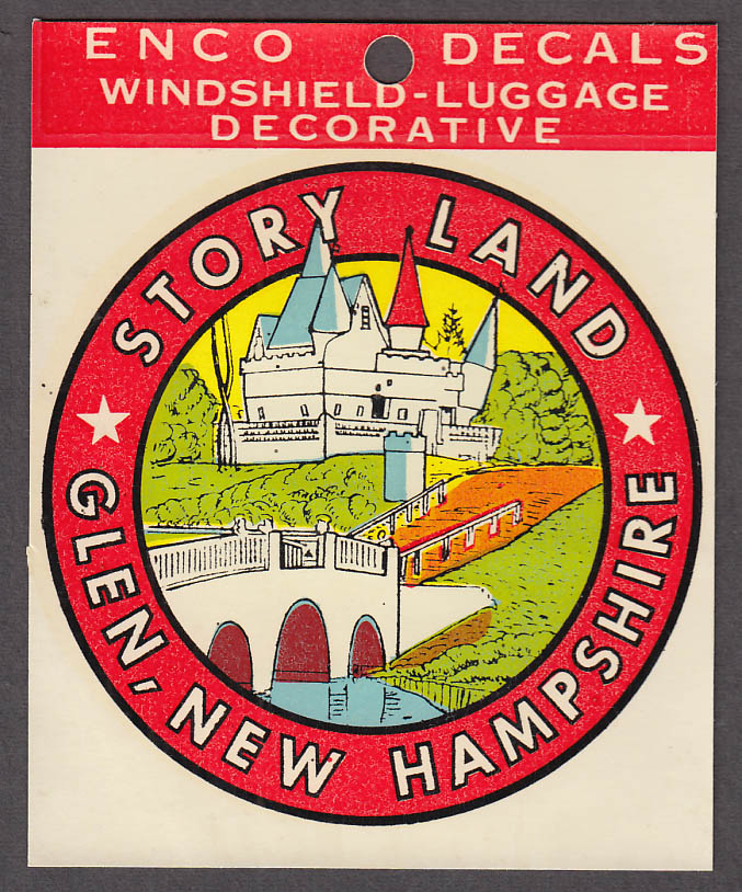 Image for Story Land Amusement Glen NH windshield decal 1950s