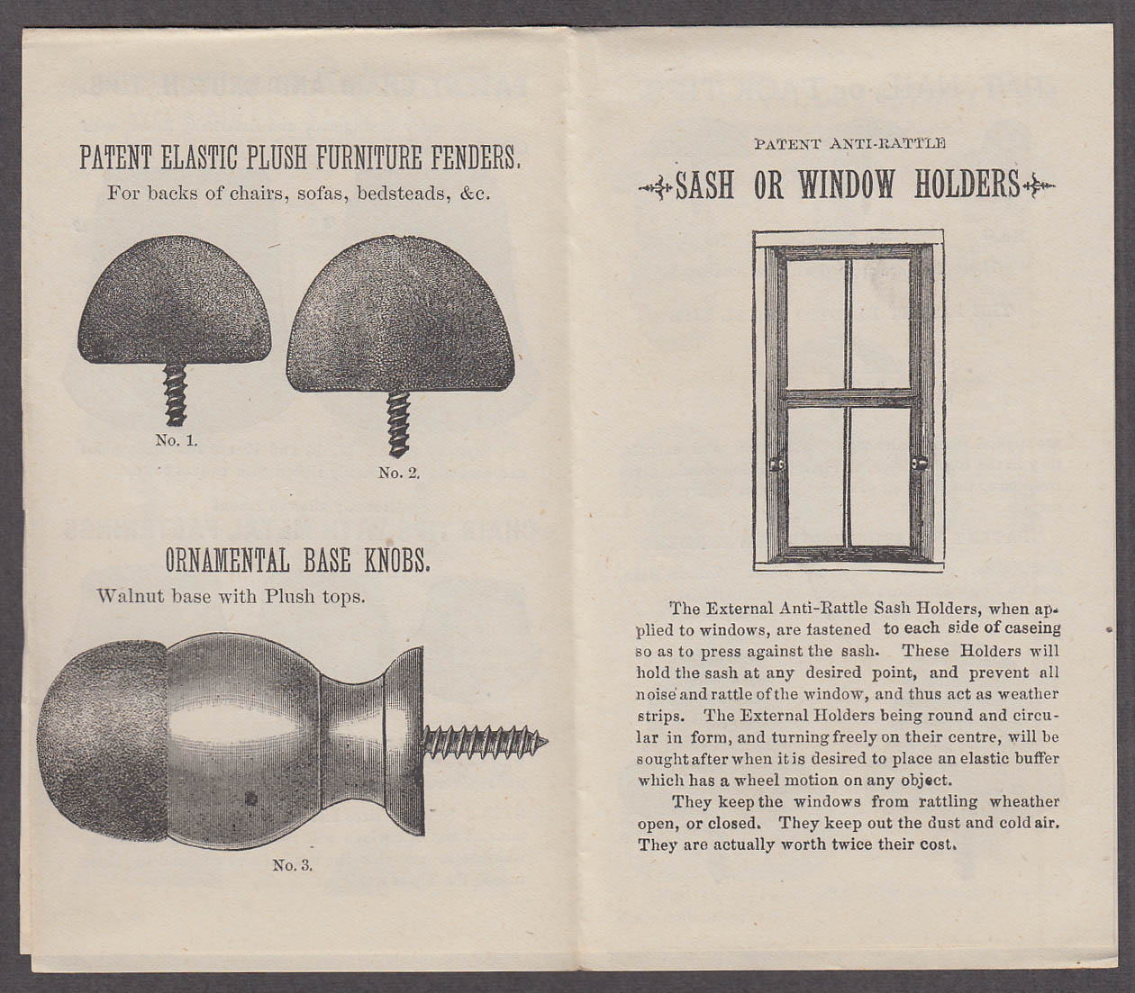 Image for Elastic Tip Chair Tips Bicycle Handles Screw Tips sales folder ca 1900