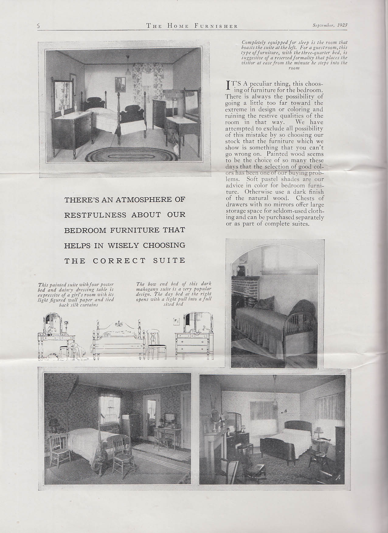 Image for HOME FURNISHER 9 1923 Max Feinberg Hartford CT furniture home dcor