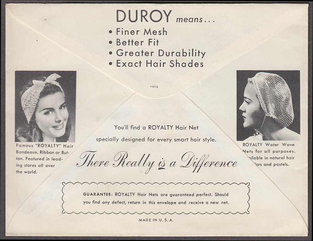 Image for Royalty Hair Net #204 Black Regular Invisible Nylon 1940s
