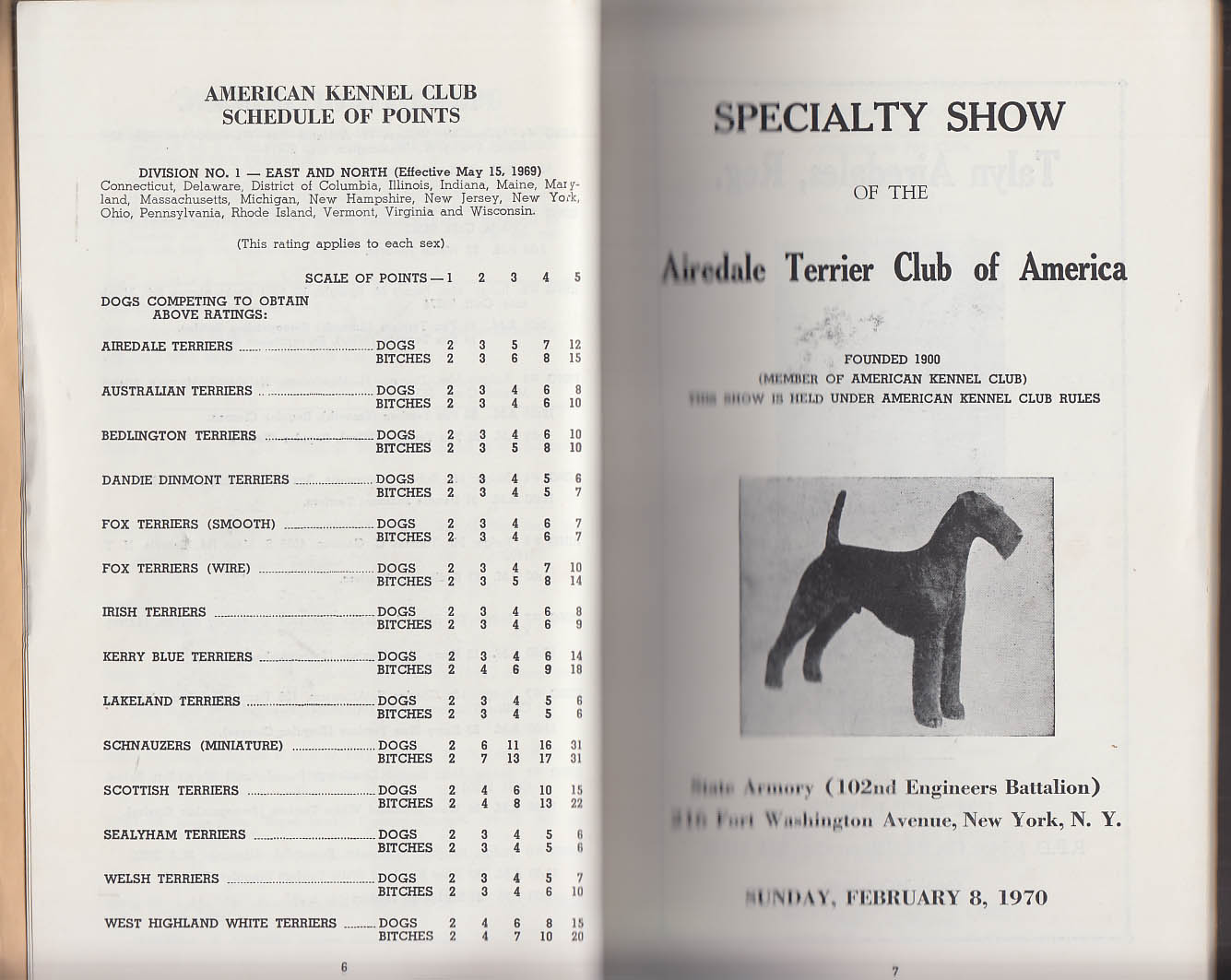 Image for Associated Terrier Clubs Specialty Dog Show Program NYC 1970