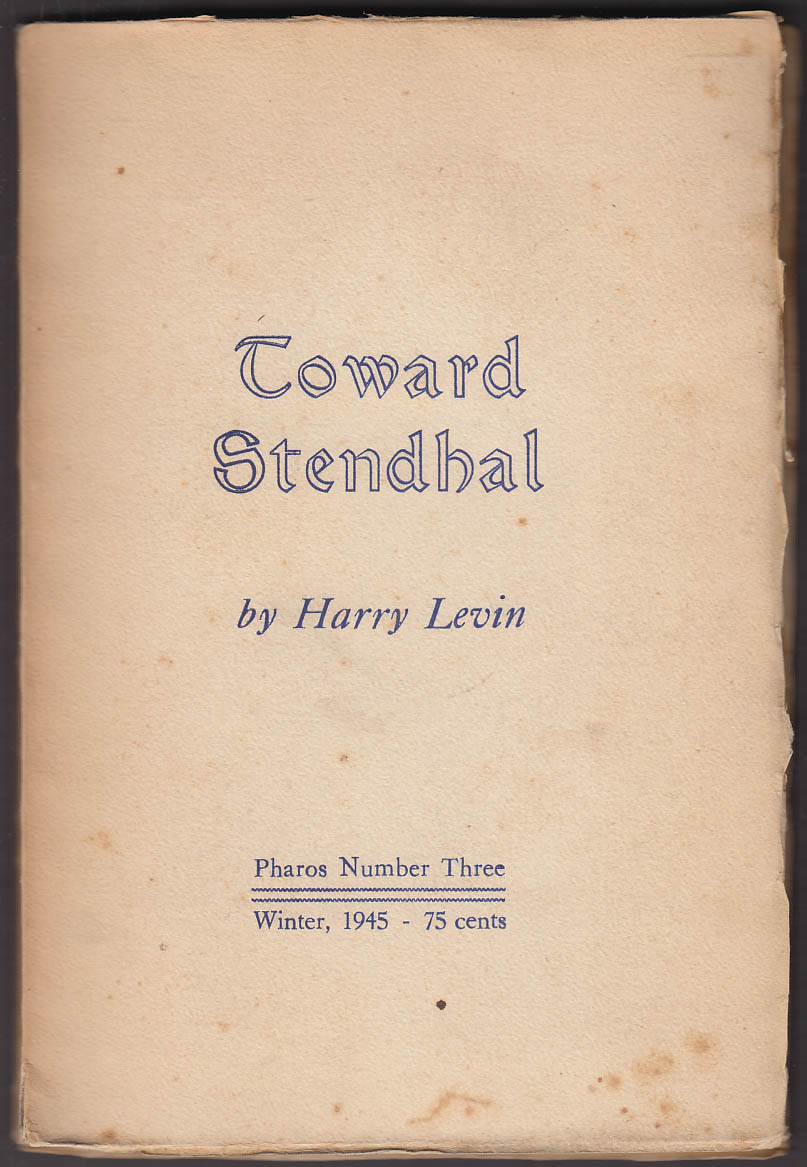 Image for PHAROS #3 Winter 1945 Harry Levin: Toward Stendahl