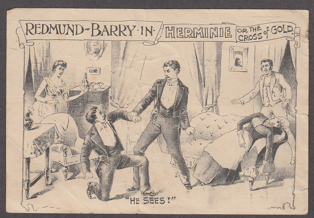 Image for Redmund & Barry in Herminie or the Cross of Gold theatre flyer ca 1880s