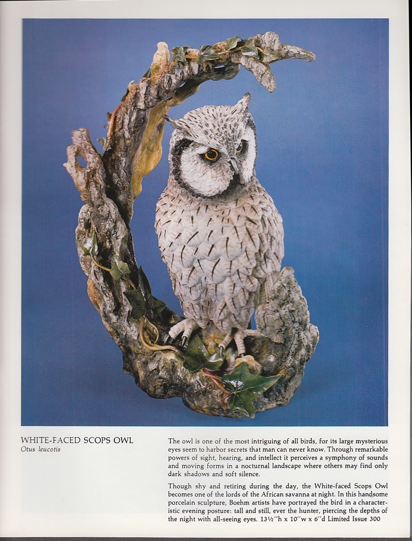 Image for Boehm Porcelain Limited Issue Birds Flowers Animals Collection Catalog 1980s