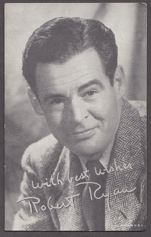 Image for Actor Robert Ryan arcade card 1940s