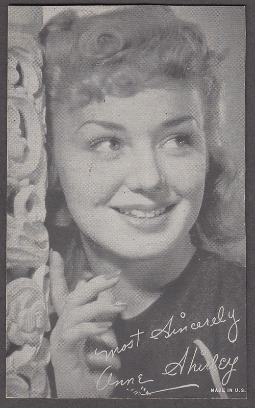 Image for Actress Anne Shirley arcade card 1940s