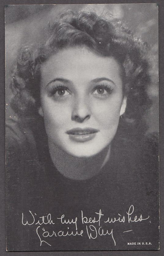 Image for Actress Laraine Day arcade card 1940s