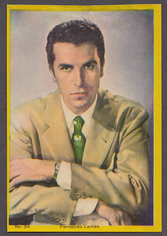 "Image for Actor Fernando Lamas 3x5"" picture Argentina 1959"