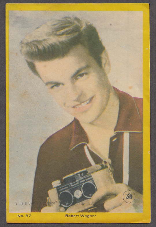 "Image for Actor Robert Wagner 3x5"" picture Argentina 1959"