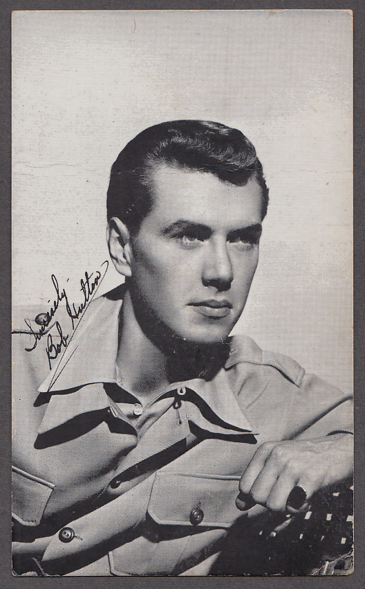 Image for Actor Bob Hutton Warner Bros fan letter reply postcard 1944