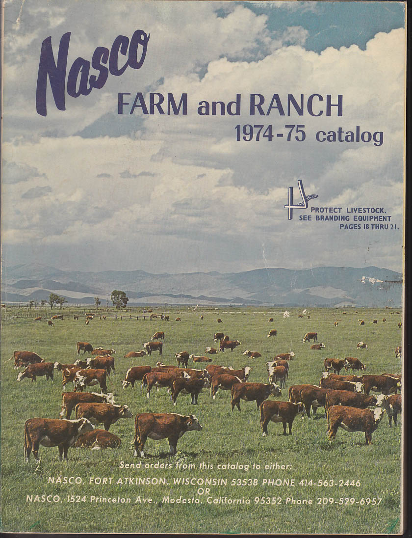 Image for Nasco Farm & Ranch Catalog 1974-1975 tack trophies transits tools etc