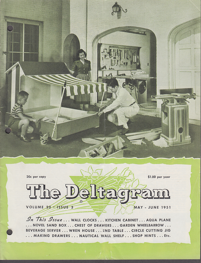 Image for Delta Power Tool DELTAGRAM 5-6 1951 Aquaplane Sand Box Wheelbarrow +