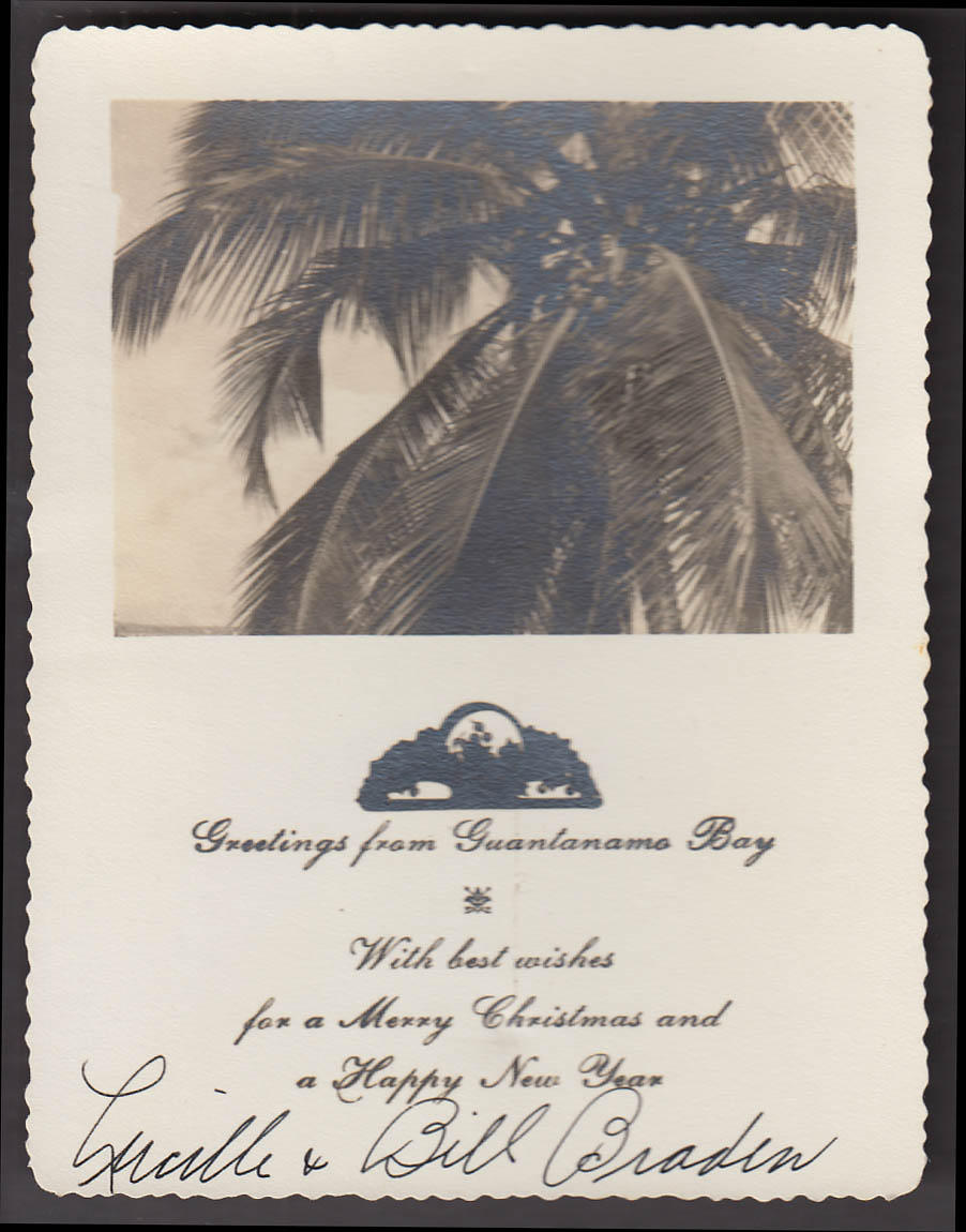 Image for Merry Christmas from Guantanamo Bay real photo card Lucille & Bill Braden