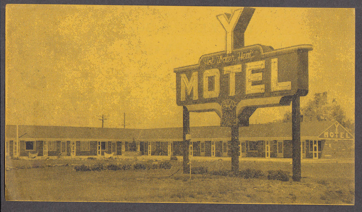 Image for You were a Guest Y Motel York NE unused receipt ca 1950s