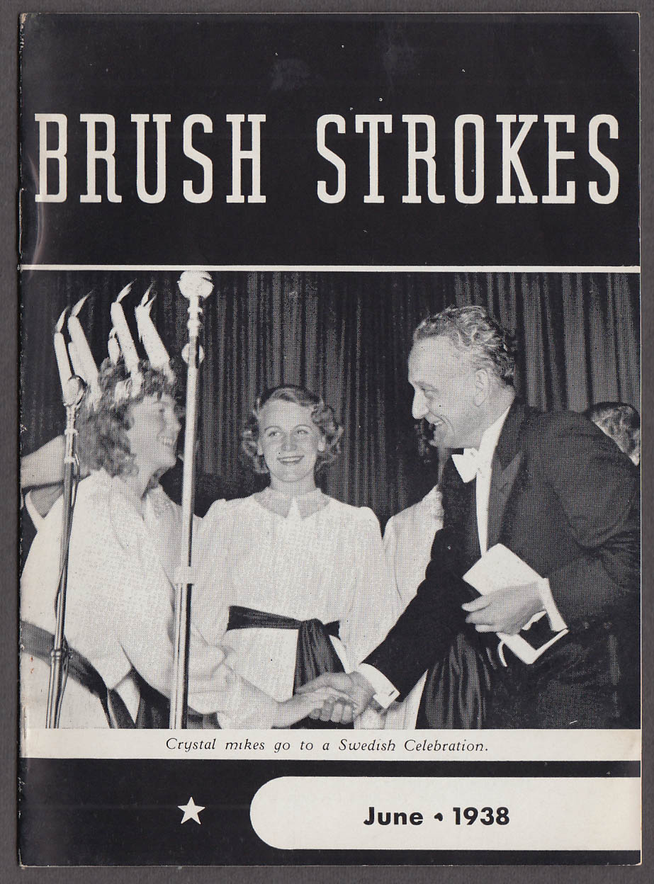 Image for BRUSH STROKES microphone maker magazine 6 1938 Chicago Parts Show