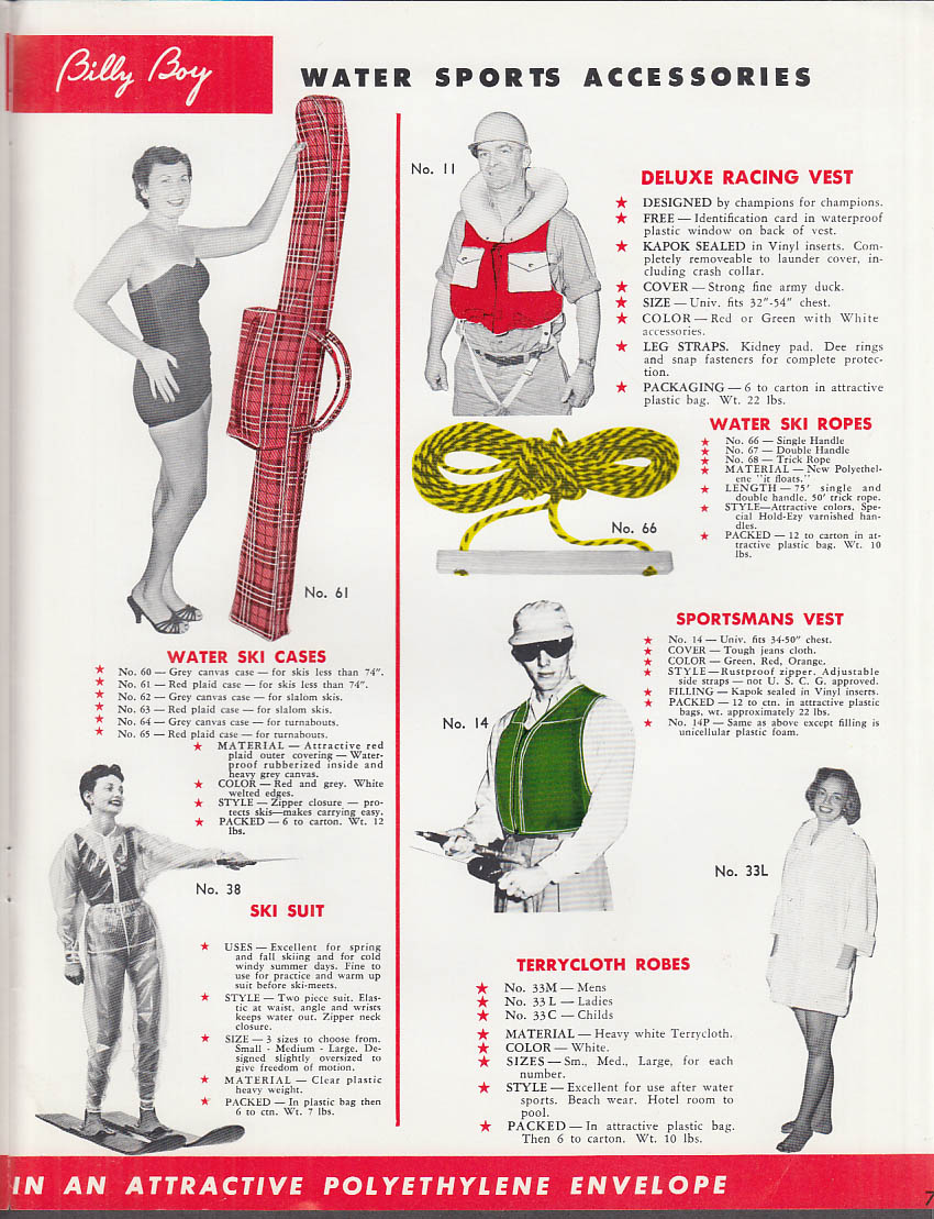 Image for 1960 Billy Boy Waterskiing & Boating Equipment Catalog