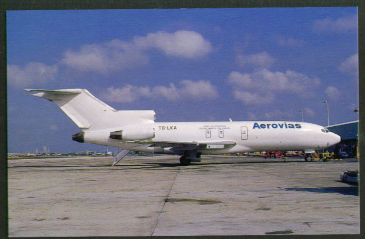 Image for Aerovias Airlines Boeing 727-100F Miami postcard 1993