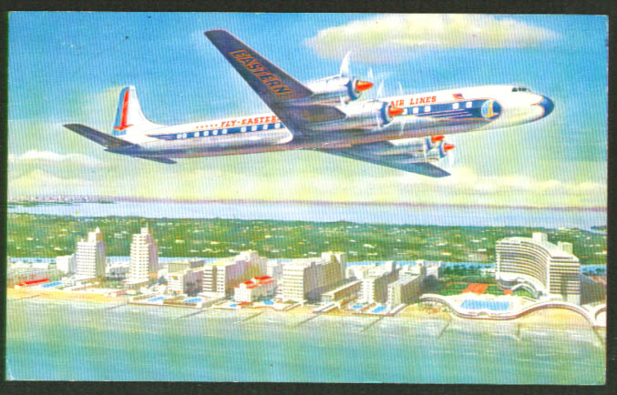 Image for Eastern Air Lines Golden Falcon DC-7B postcard 1950s