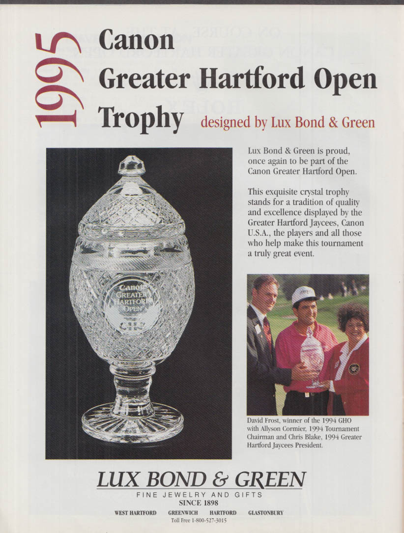 Image for Canon GHO Greater Hartford Open Official Spectator Guide 1995