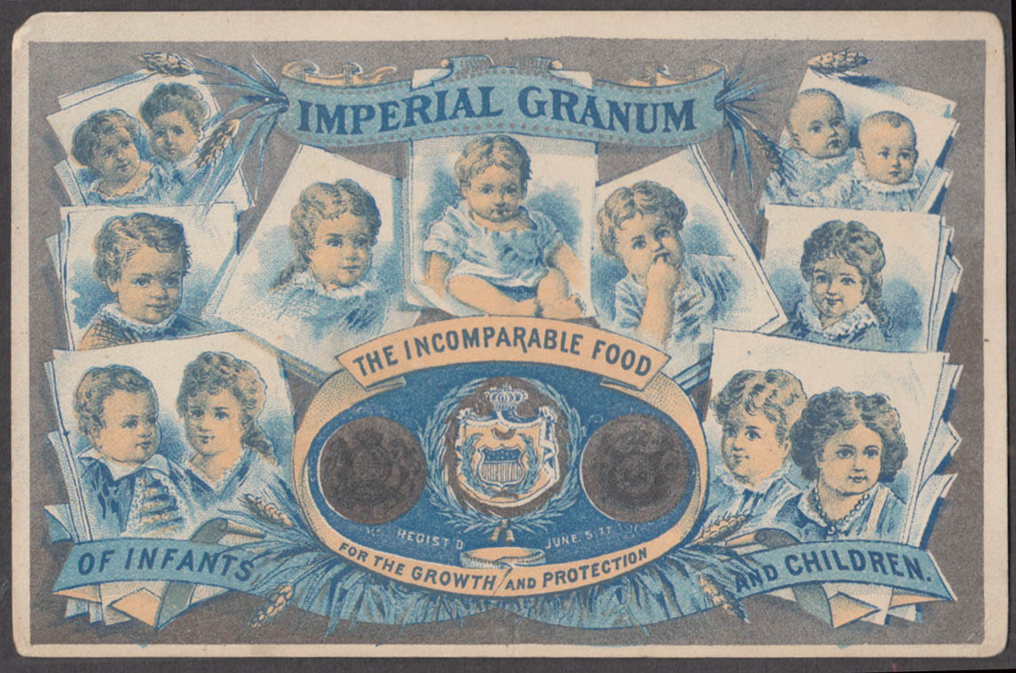 Image for Imperial Granum for Growth in Infants & Children trade card 1880s