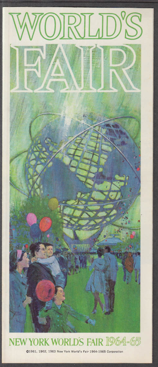 Image for 1964 New York World's Fair advance announcement folder pre-opening