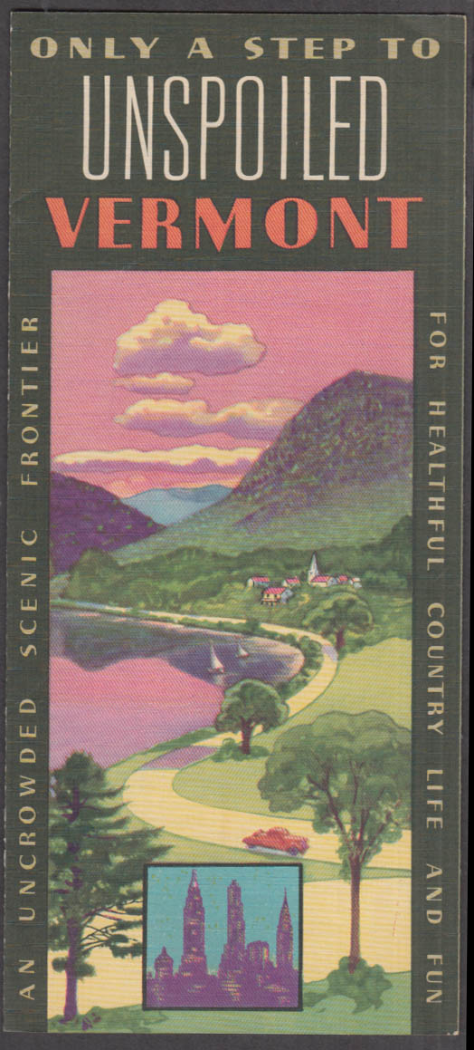 Image for Only a Step to Unspoiled Vermont 1939 folder New York World's Fair