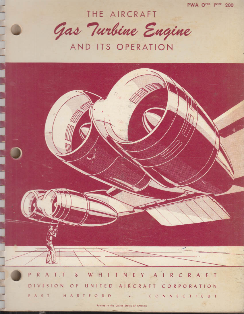 Image for Pratt & Whitney Aircraft Gas Turbine Engine & Its Operation Manual 1960