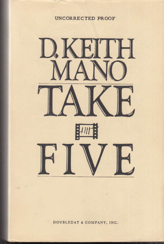 Image for D Keith Mano: Take Five: Uncorrected Proof of edited typescript [1982]