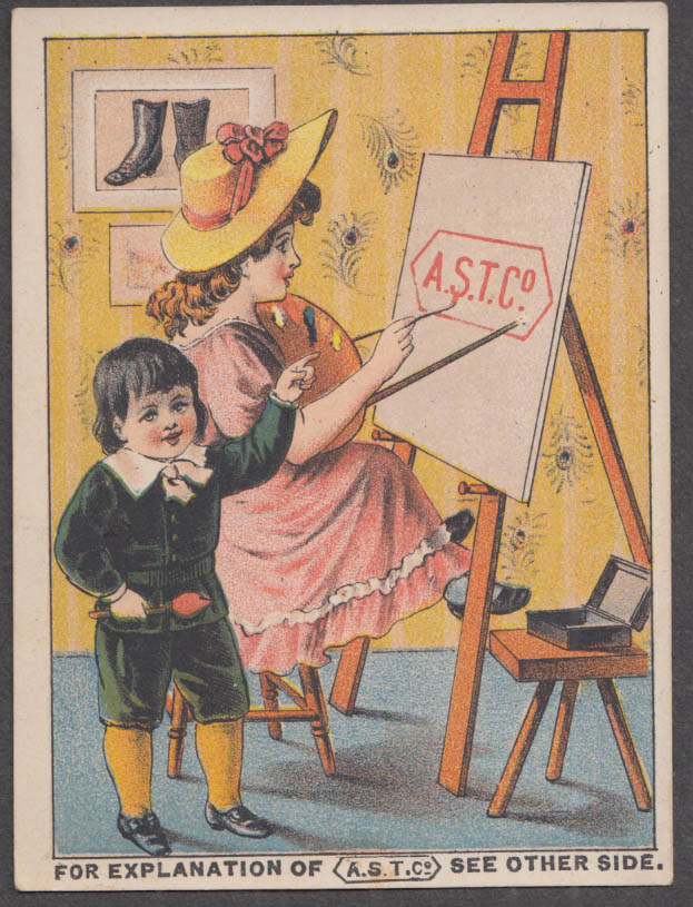 Image for American Shoe Tip: Child's Cash Store Thompsonville CT trade card 1880s