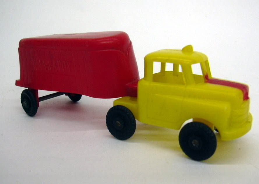 Image for Wannatoy plastic semi-trailer truck 1950s