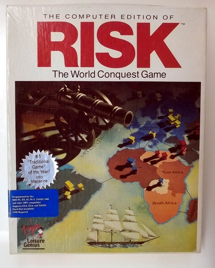 Image for Computer Edition of Risk IBM PC Tandy 1000 Version 1991 big box Virgin Genius