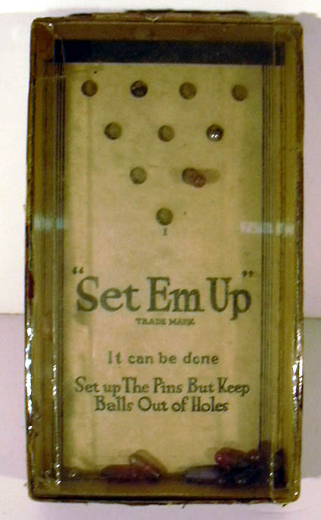 Image for Set-Em-Up General Toy & Novelty Manufacturing Company Pin & Ball Game 1930s