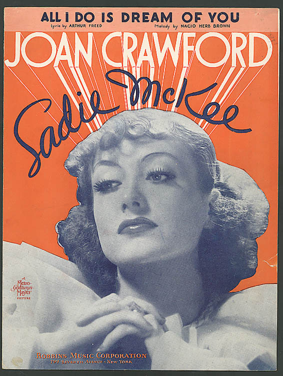 Image for All I Do Is Dream of You Joan Crawford Sadie McKee 1934