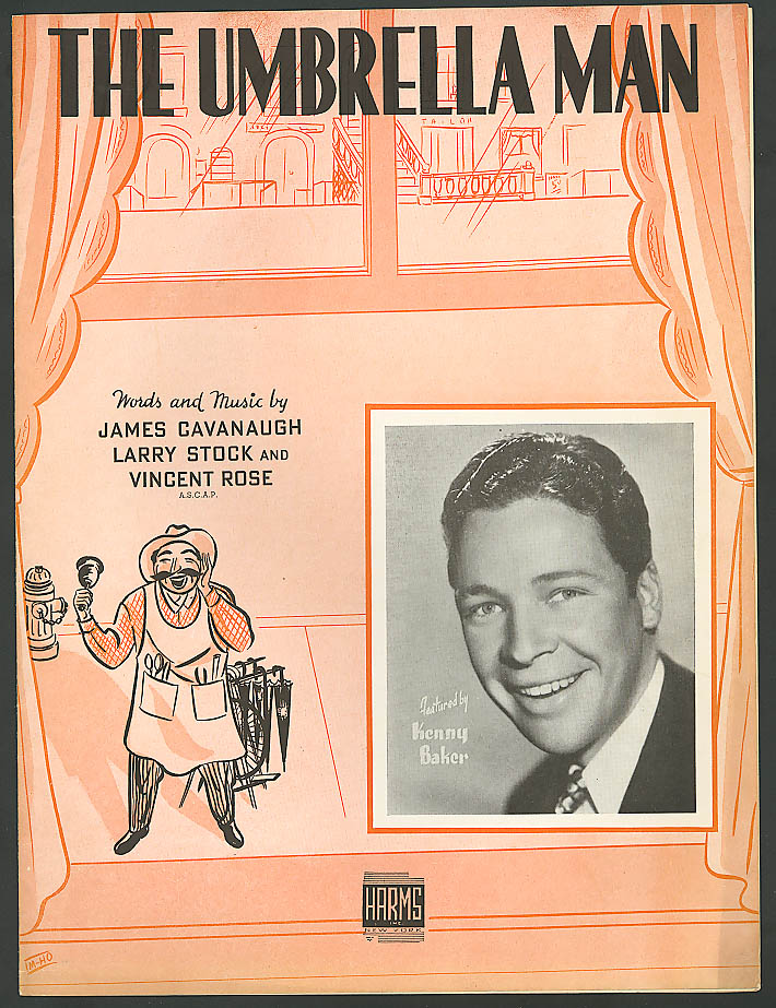 Image for The Umbrella Man Kenny Baker sheet music 1938
