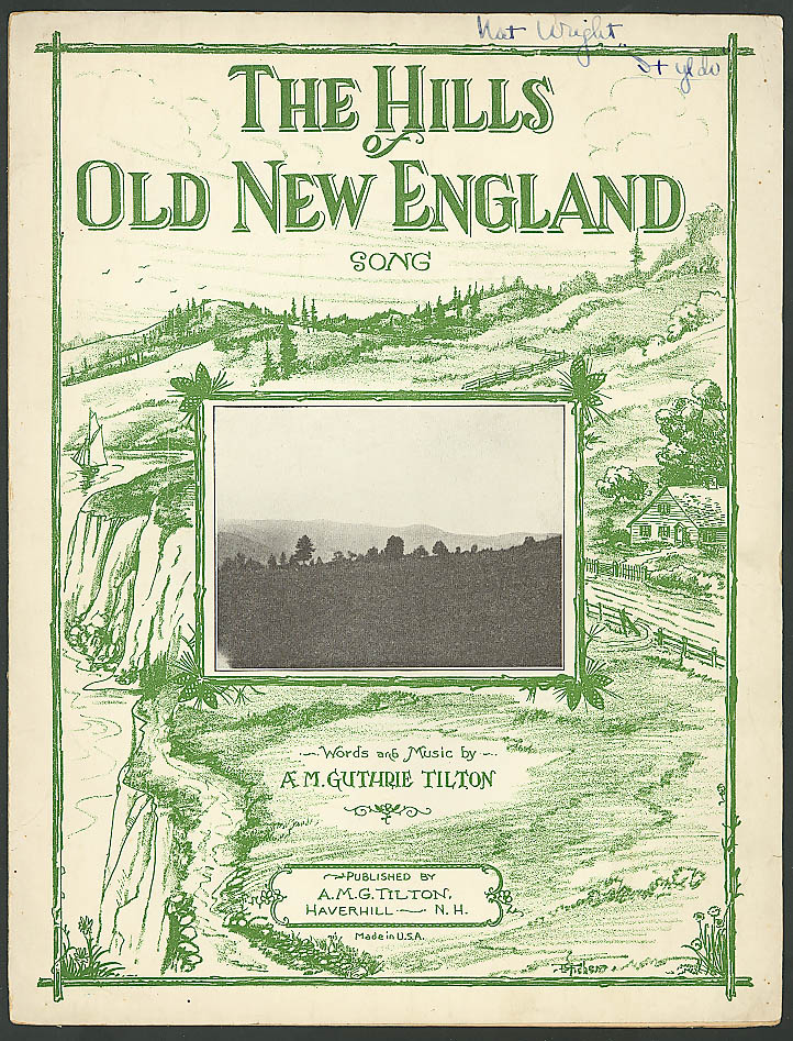 Image for Hills of Old New England Haverhill NH sheet music 1929
