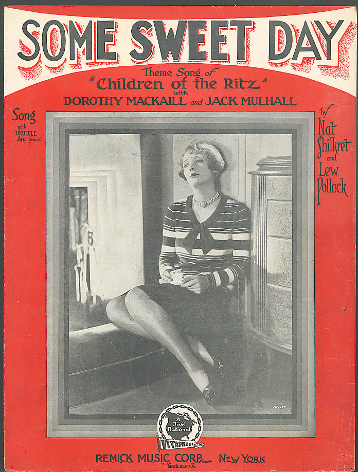 Image for Some Sweet Day sheet music Dorothy MacKaill 1929