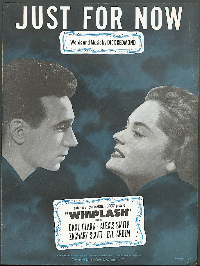 Image for Just for Now movie sheet music Whiplash 1948