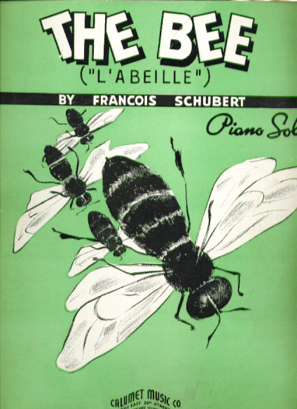 Image for The Bee 1937 Sheet music Francois Schubert