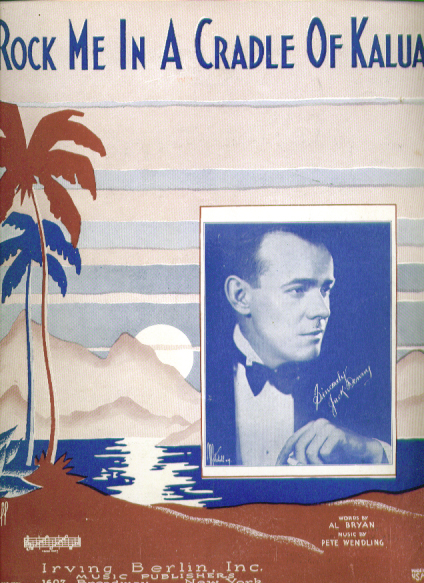 Image for Rock Me in a Cradle of Kalua 1931 Sheet music