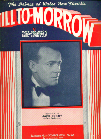 Image for Till To-Morrow 1932 Sheet music