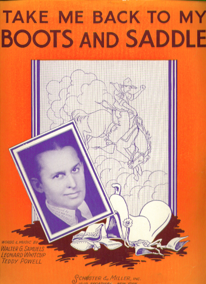Image for Take Me Back to my Boots & Saddle Sheet music