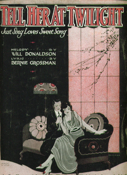Image for Tell Her at Twilight 1921 Sheet music