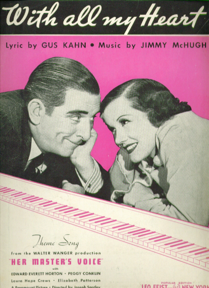 Image for With All My Heart 1935 Sheet music