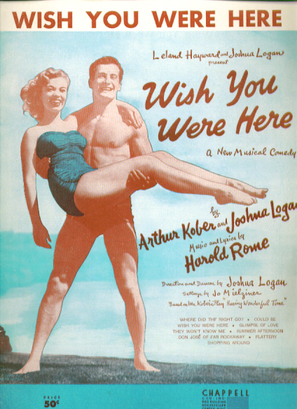Image for Wish You Were Here 1952 Sheet music