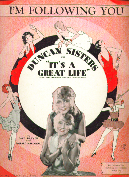Image for I'm Following You 1929 music Duncan Sisters